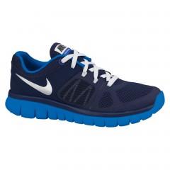Dětské běžecké boty Nike FLEX 2014 RN (GS) 36,5 MID NVY/MTLLC SLVR-LYN BL-WHIT