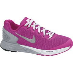 Dětské běžecké boty Nike LUNARGLIDE 6 (GS) 36,5 HT PNK/MTLLC SLVR-WHITE-WLF GR