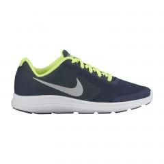 Dětské běžecké boty Nike REVOLUTION 3 (GS) 37,5 OBSIDIAN/MTLC PLATINUM-HASTA-V