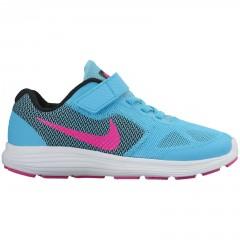 Dětské běžecké boty Nike REVOLUTION 3 (PSV) 31 GAMMA BLUE/PINK BLAST-BLACK-WH