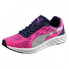 Dětské běžecké boty Puma Meteor Jr Pink Glo- Silver 37