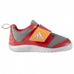 Dětské boty adidas FortaPlay AC I | BA9548 | Šedá, Červená | 23