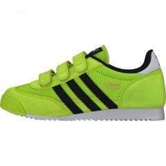 Dětské boty adidas Originals DRAGON CF C   B25684   Zelená   33