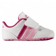 Dětské boty adidas V JOG CRIB | AW4132 | Bílá, Růžová | 21