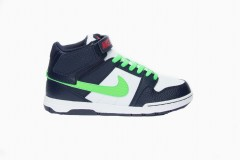 Dětské boty Nike MOGAN MID 2 JR B 36,5 OBSIDIAN/POISON GREEN-WHITE
