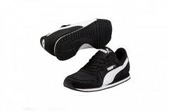 Dětské boty Puma Cabana Racer Mesh Jr black-whi | 356372-71 | 37,5