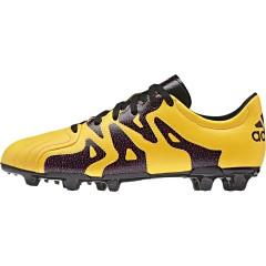 Dětské kopačky adidas X 15.3 FG/AG J Leather 38 SOGOLD/CBLACK/SHOPIN