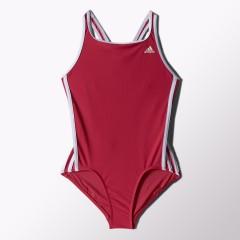 Dětské plavky adidas I 3S 1PC Y | S22904 | Červená | 164
