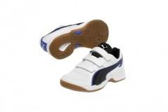 Dětské Sálové boty Puma Vellum III V Jr white-black-pu   102662-01   Bílá   37