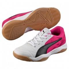 Dětské Sálové boty Puma Veloz Indoor III Jr white-blac   103742-03   Růžová, Bílá   37
