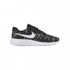 Dětské tenisky Nike TANJUN PRINT (GS) 36 BLACK/WHITE-WOLF GREY-WHITE