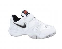 Dětské tenisové boty Nike CITY COURT 7 (PSV) 30 WHT/SQDRN BL-TM ORNG-SPRT GRY