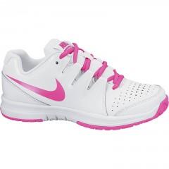 Dětské tenisové boty Nike VAPOR COURT (GS) 38,5 WHITE/PINK POW-PURE PLATINUM