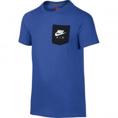 Dětské tričko Nike B NSW TOP SS AIR HYBRID L LT GAME RYL HTR/BLACK/WHITE