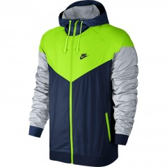 Pánská bunda Nike M NSW WINDRUNNER M COASTAL BLUE/ELECTRIC GREEN/BL