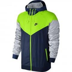 Pánská bunda Nike M NSW WINDRUNNER | 727324-423 | Modrá, Šedá, Žlutá | S