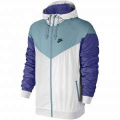 Pánská bunda Nike M NSW WR JKT L WHITE/MICA BLUE/DEEP NIGHT/BLA