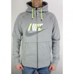 Pánská mikina Nike AW77 FLC FZ HOODY-HBR | 687289-063 | Šedá | L
