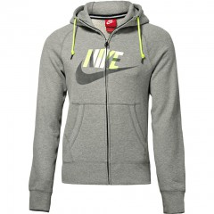 Pánská mikina Nike AW77 FT FZ HOODY-HBR GEO | 687297-063 | Šedá | 2XL