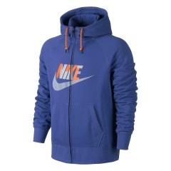 Pánská mikina Nike AW77 FT FZ HOODY-HBR GEO   687297-480   Modrá   M