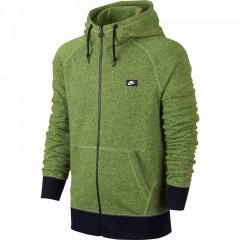 Pánská mikina Nike AW77 FT FZ HOODY-SHOEBOX | 678560-702 | Zelená | 2XL