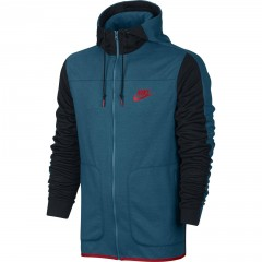 Pánská mikina Nike M NSW AV15 HOODIE FZ FLC   804852-301   Černá, Modrá   M