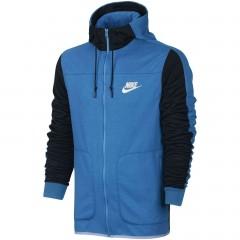 Pánská mikina Nike M NSW AV15 HOODIE FZ FLC | 804852-435 | Modrá | XL