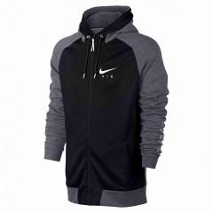 Pánská mikina Nike M NSW HOODIE FZ BB AIR HYB   832148-092   Černá, Šedá   M