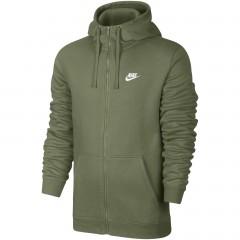 Pánská mikina Nike M NSW HOODIE FZ FLC CLUB | 804389-387 | Zelená | M