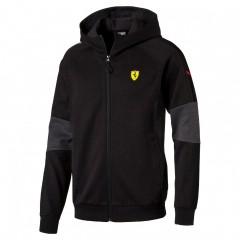 Pánská mikina Puma Ferrari SF Hooded Sweat Jacket Bl | 761979-02 | Černá | M