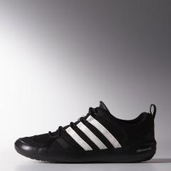 Pánská treková obuv adidas climacool BOAT LACE 44,5 CBLACK/CWHITE/SILVMT