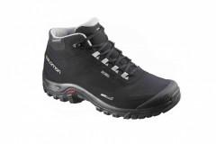 Pánská treková obuv Salomon SHELTER CS WP BLACK/BLACK/PEWT | 372811 | Černá, Modrá | 42,5