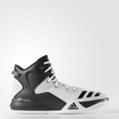Pánské basketbalové boty adidas Performance DT BBall Mid 42,5 FTWWHT/CBLACK/CLONIX