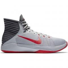 Pánské basketbalové boty Nike PRIME HYPE DF 2016 41 WOLF GREY/UNIVERSITY RED-DARK
