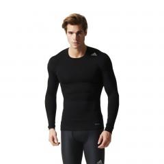 Pánské kompresní tričko adidas TF BASE LS | AJ5016 | Černá | 2XL