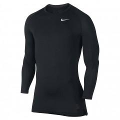 Pánské kompresní tričko Nike COOL COMP LS 2XL BLACK/DARK GREY/WHITE