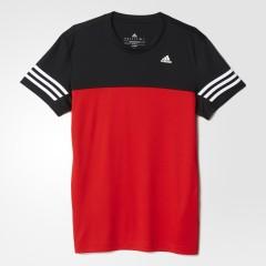 Pánské tričko adidas BASE MID TEE DD M VIVRED/BLACK