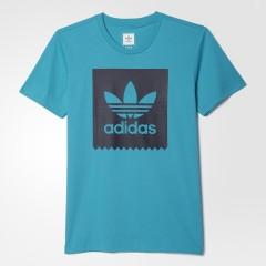 Pánské tričko adidas Originals BLKBRD LOGO FIL | AO0755 | Modrá | 2XL