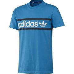 Pánské tričko adidas Originals LINEAR LOGO TE | F78501 | Modrá | M