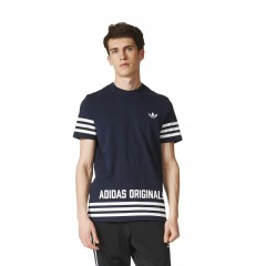 Pánské tričko adidas Originals STREET GRP TEE | AZ1139 | Modrá | L