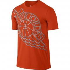 Pánské tričko Jordan AIR WINGSPAN TEE 2XL TEAM ORANGE/WOLF GREY