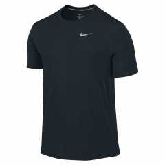 Pánské tričko Nike DRI-FIT CONTOUR SS L BLACK/REFLECTIVE SILV