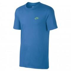 Pánské tričko Nike M NSW TEE CLUB EMBRD FTRA   827021-435   Modrá   XL