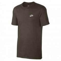 Pánské Tričko Nike M NSW TEE CLUB EMBRD FTRA   827021-325   Zelená   XL