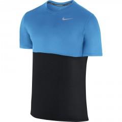 Pánské tričko Nike RACER SS XL BLACK/LT PHOTO BLUE/REFLECTIVE