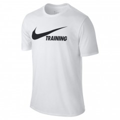 Pánské tričko Nike TRAINING SWOOSH TEE | 777358-101 | Bílá | L