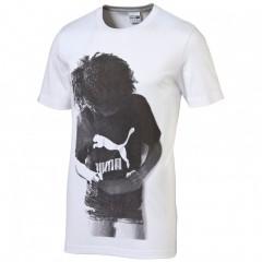 Pánské tričko Puma Brand Tee white L