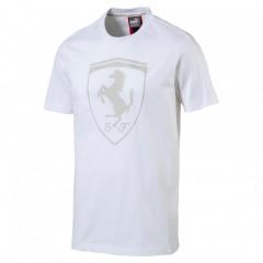 Pánské tričko Puma Ferrari Big Shield Tee Wh bílé S