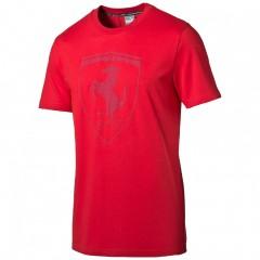 Pánské tričko Puma Ferrari Ferrari Big Shield Tee rosso c | 569364-02 | Červená | M