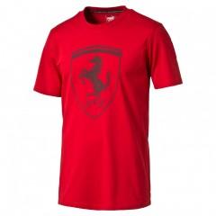 Pánské tričko Puma Ferrari Ferrari Big Shield Tee Rosso C S